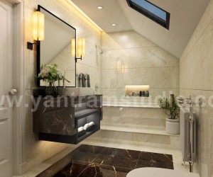 Fancy Modern Bathroom Interior Design by Yantram 3D Interior Modeling, Chicago - USA