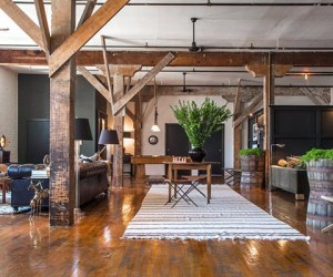 Fascinating Arts District loft in LA Mixing DIY and Vintage