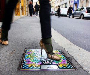 Fashion Designers Turn Manholes into Artworks