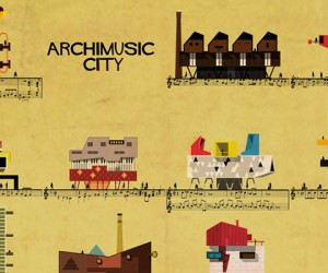 Archimusic illustrations by Federico Babina