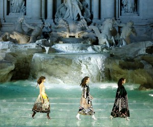 Fendi Legends  Fairytales Show In The Trevi Fountain