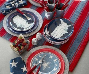 Festive Red, White and Blue Tablescape Ideas for a Sizzling 4th of July