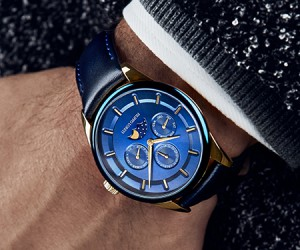 Filippo Loreti Venice Moonphase Blue Gold Timepiece