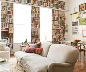Filled with Romance of Art and Books: Brooklyn Heights Loft