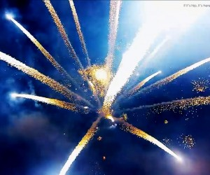 Fireworks as Filmed By Drones