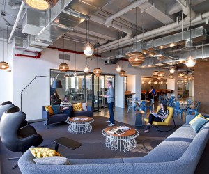 First Office Space for Cond Nast Entertainment Features a Rustic and Industrial Aesthetic