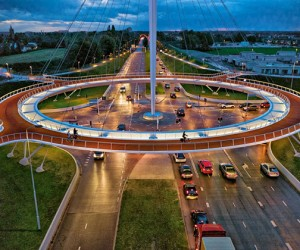 First Suspended Bicycle Roundabout