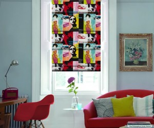 Flamboyant Pop Art Blinds from English Blinds