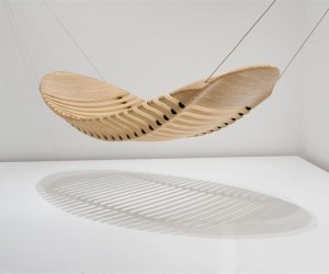 Flexible Wooden Hammock by Adam Cornish