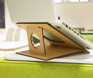 FLIO - ultra slim  portable wooden laptop stand