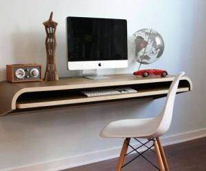 Float Wall Desk: Minimalistic Floating Desk