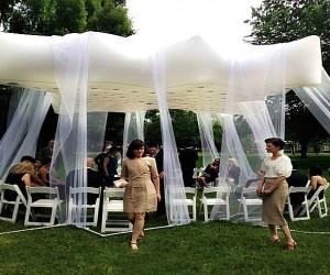 Floatastic: Inflatable Floating Roof Pavilion