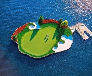 Floating Golf Course In Coeur dAlene Resort
