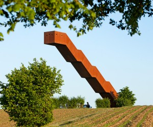 Floating Staircase in Belgium by Close To Bone