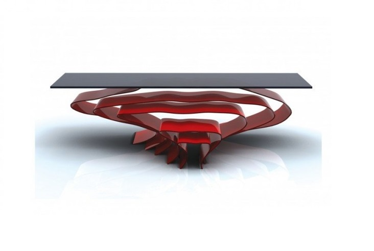 Flow A Coffee Table With Nesting Stools