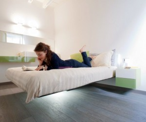 Fluttua Floating Bed by Daniele Lago