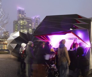 Folded Retail Kiosk by Make Architects | VIDEO