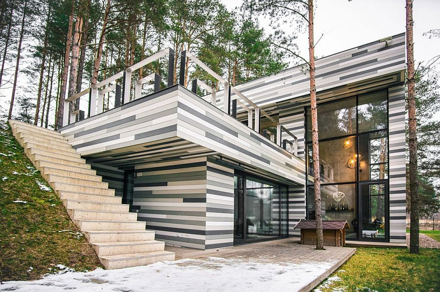 Peachy Forest House Gets Stunning Exterior With Different Shades Of Download Free Architecture Designs Viewormadebymaigaardcom