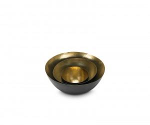 Form Bowl Deep Set Small, Black  Brass by Tom Dixon
