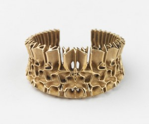 Francis Bitonti Gold-Plated 3D Printed Jewelry Collection
