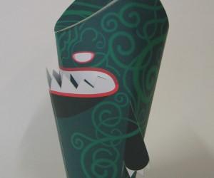 Free DIY paper toy Shreddor, created by 3Eyedbear