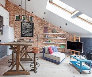 From Discarded Factory to Modern Home: 40sqm of Cheerful Delight in Moscow