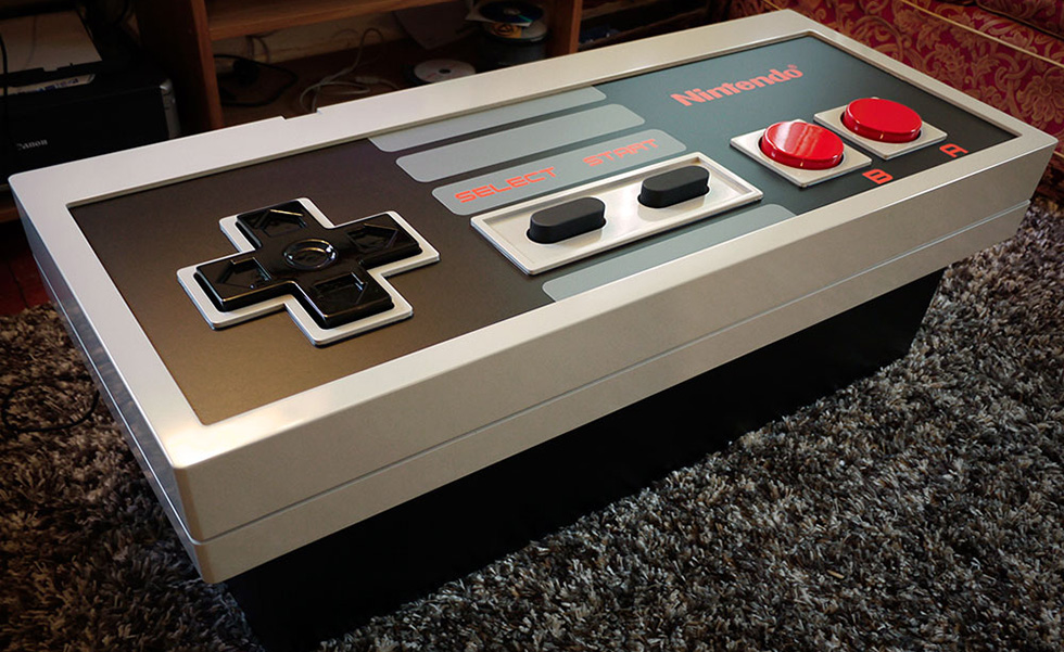 Controller Coffee Table.Functioning Nes Controller Coffee Table
