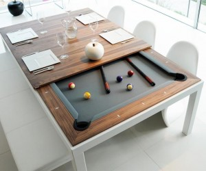 Fusion Table: dining table and pool table