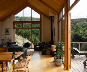 Gable Roof, Timber Exteriors and Gorgeous Natural Views: Governors Bay House