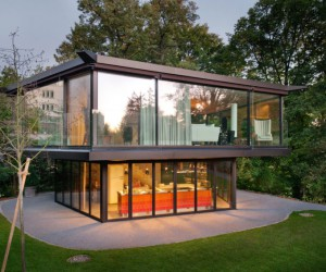 Garden Pavilion Built in Krhbhlstrasse, Zrich, Switzerland by Architectural Firm Oliv Brunner Volk Architekten