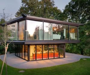 Garden Pavilion Built in Krhbhlstrasse, Zrich, Switzerland by Architectural Firm Oliv Brunner Volk Architekten