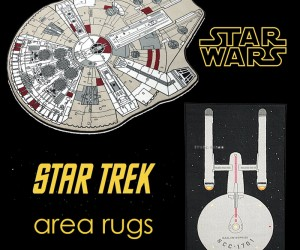 Geek Decor: Star Wars and Star Trek Area Rugs