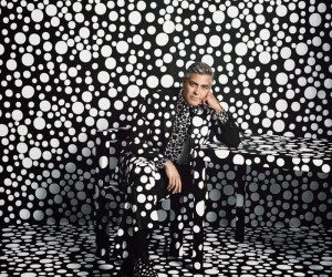 George Clooney by Yayoi Kusama for W Magazines Art Issue