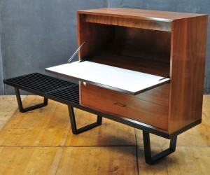 George Nelson Herman Miller Secretary Desk Bench by Modern50