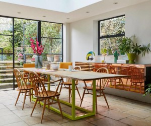Georgian Terraced House Gets Delicate Restoration with Retro 70s Glamor