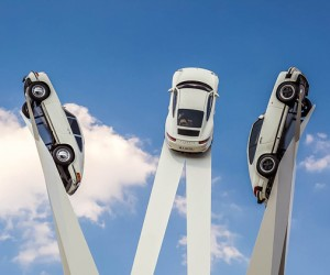 Gerry Judahs Sculpture for Porsche Museum in Stuttgart