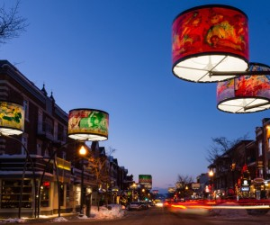 Giant Lampshades Create Spectacular Urban Lighting Installation