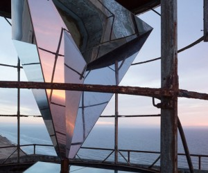Gigantic Kaleidoscpe Lighthouse Installation