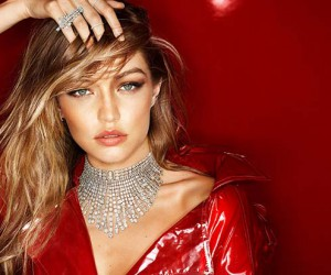 Gigi Hadid Looks Red-Hot in Messika Holiday Jewelry Campaign