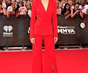 Gigi Hadid Wears a Fiery Outfit
