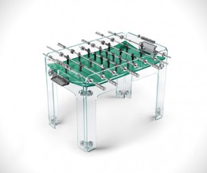 Glass Foosball Furniture