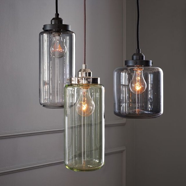 Cool Kitchen Lights: Glass Jar Pendant Lights