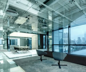 Glass office for Soho China in Shanghai by AIM Architecture