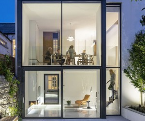 Glassy Rear Extension of Red Brick Victorian Terrace House in Dublin