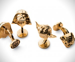 Gold Star Wars Cufflinks