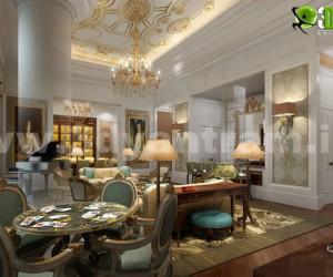 Gorgeous 3D Living Room Design View