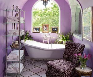Gorgeous Bathrooms that Enchant with Purple Panache