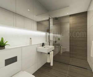 Gorgeous Modern 3D Bathroom Interior CGI