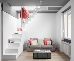 Gosplan Refurbishes A 40 SQM Attic Apartment in Genoa