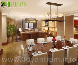 Graceful Interior Residential Dining Room Design View